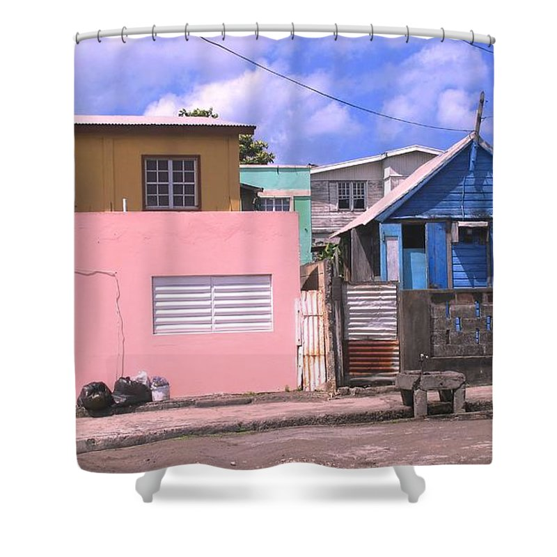 Basseterre Shower Curtain featuring the photograph Far From Dull by Ian MacDonald