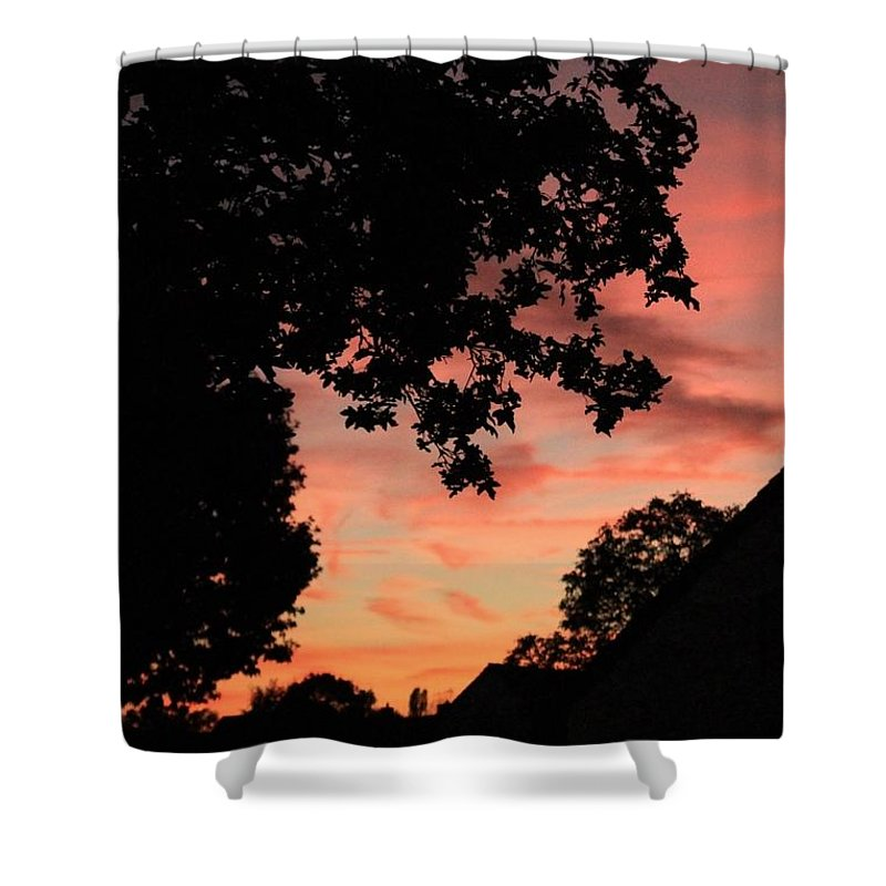 Shower Curtain featuring the photograph Farbspiel by Lara Webler