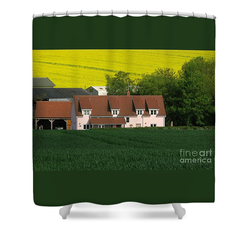 Farm Shower Curtain featuring the photograph Farm Fields by Ann Horn