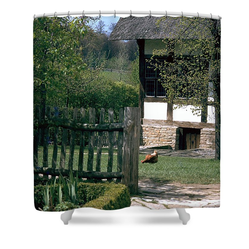 German Shower Curtain featuring the photograph Farm by Flavia Westerwelle