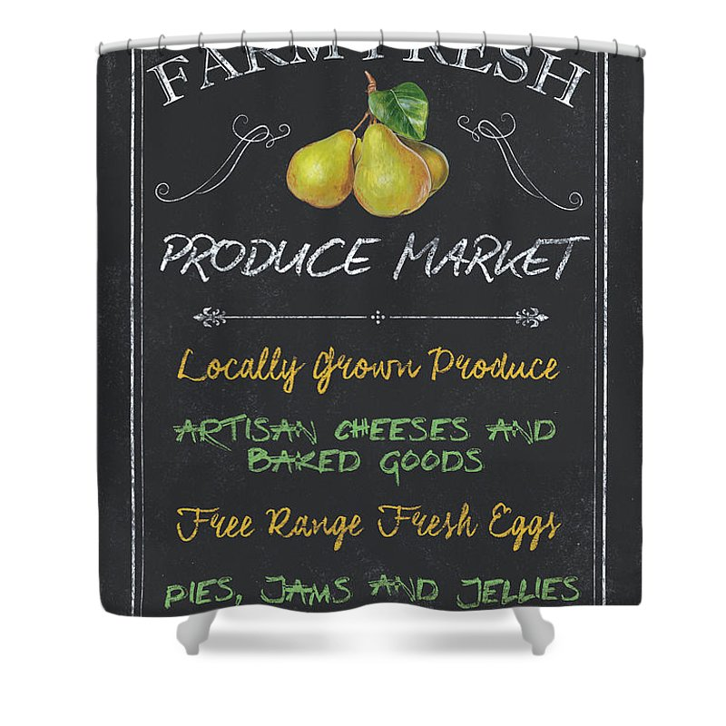 Farm Shower Curtain featuring the painting Farm Fresh Produce by Debbie DeWitt