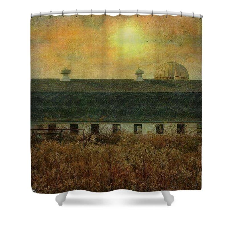 Textured Farm Shower Curtain featuring the photograph Farm by James Caine