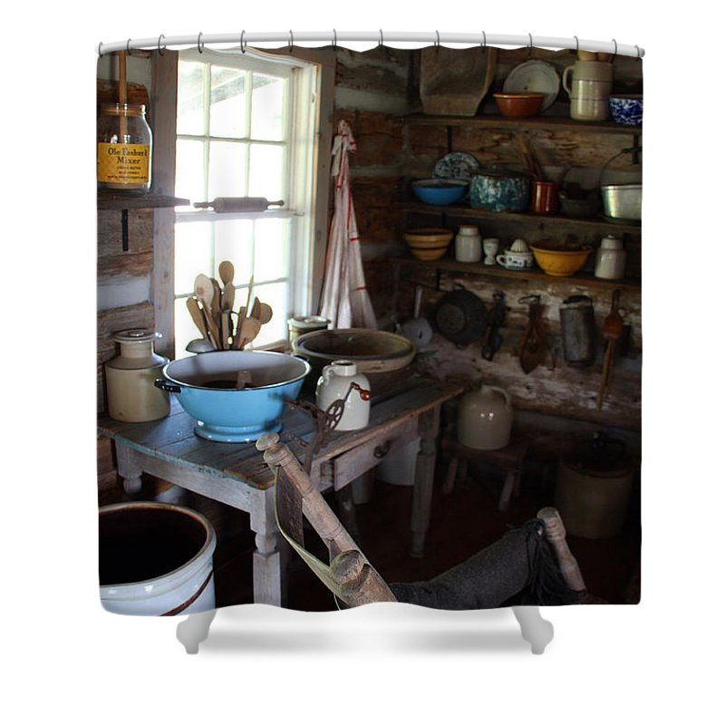 Farm Kitchen Shower Curtain featuring the photograph Farm Kitchen by Joanne Coyle