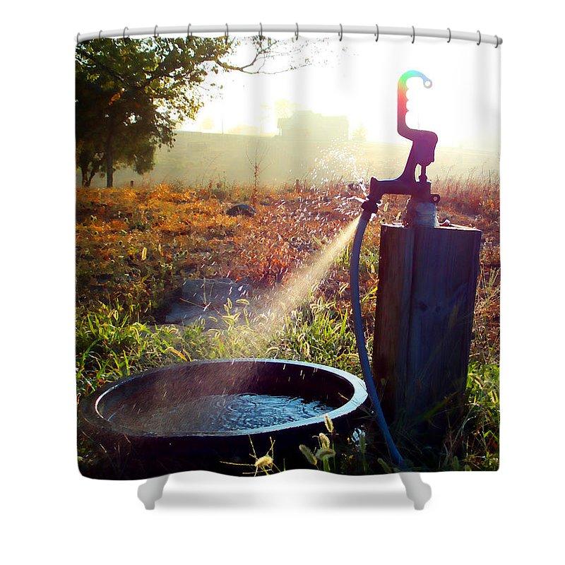 Farmlife Shower Curtain featuring the photograph Farm Life 5 by Sam Davis Johnson