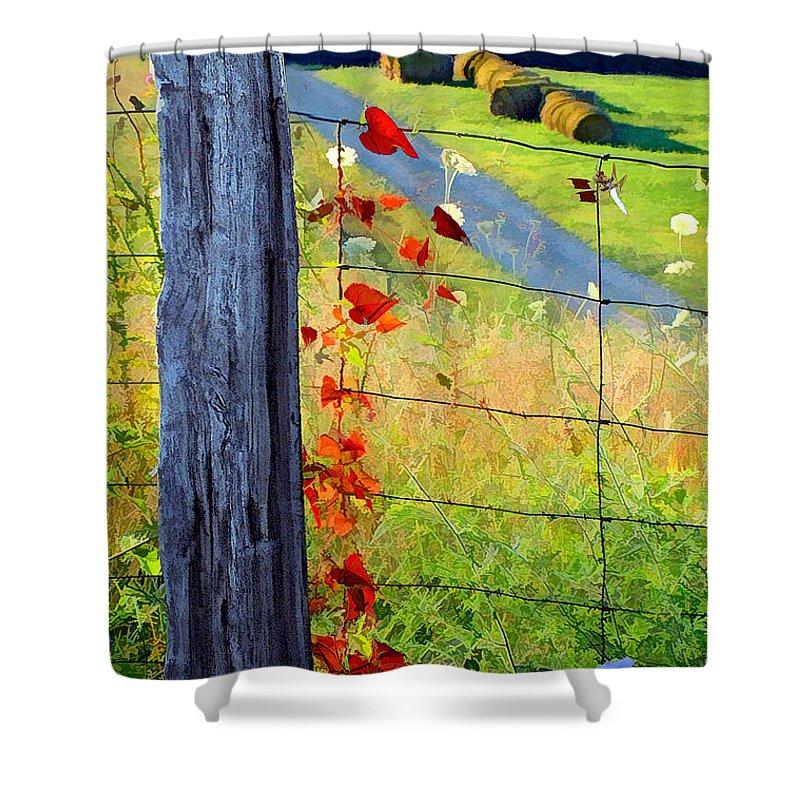 Farmlife Shower Curtain featuring the photograph Farm Life by Sam Davis Johnson