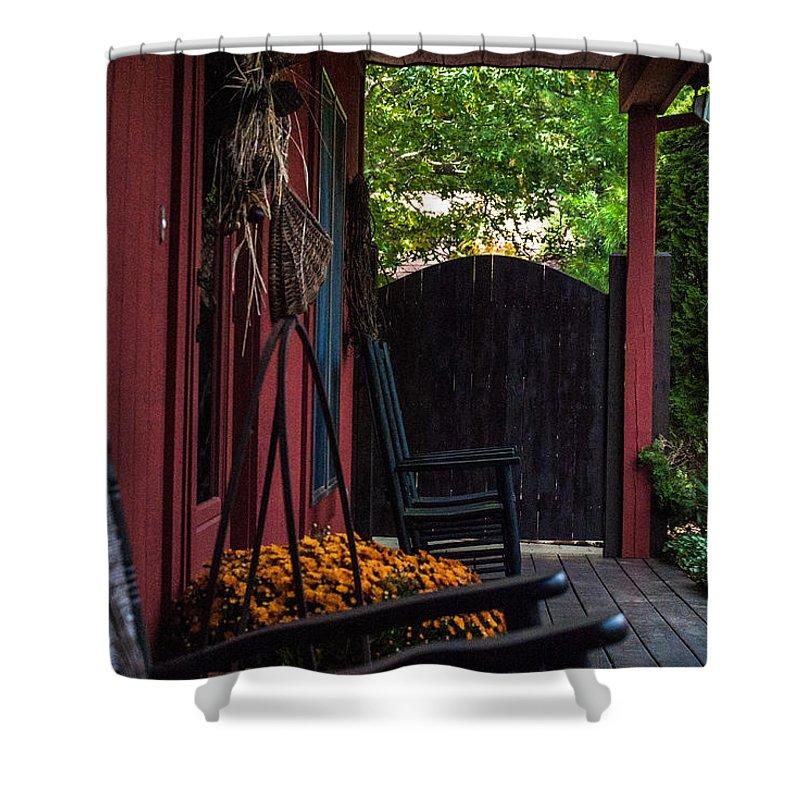 Farm Porch Shower Curtain For Sale By James Holt