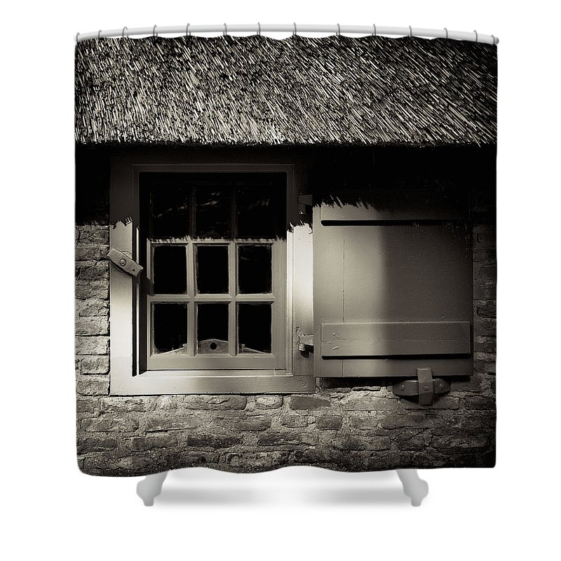 Dutch Shower Curtain featuring the photograph Farmhouse Window by Dave Bowman