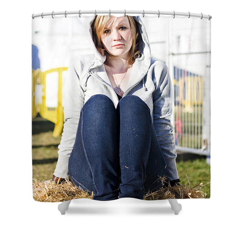 Adult Shower Curtain featuring the photograph Farmland Female by Jorgo Photography - Wall Art Gallery