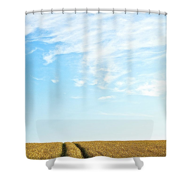 Europe Shower Curtain featuring the photograph Farmland To The Horizon 2 by Heiko Koehrer-Wagner