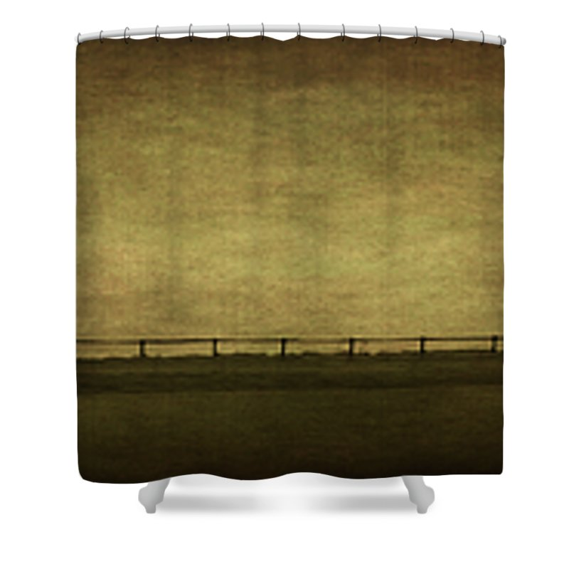 Landscape Shower Curtain featuring the photograph Farscape by Evelina Kremsdorf