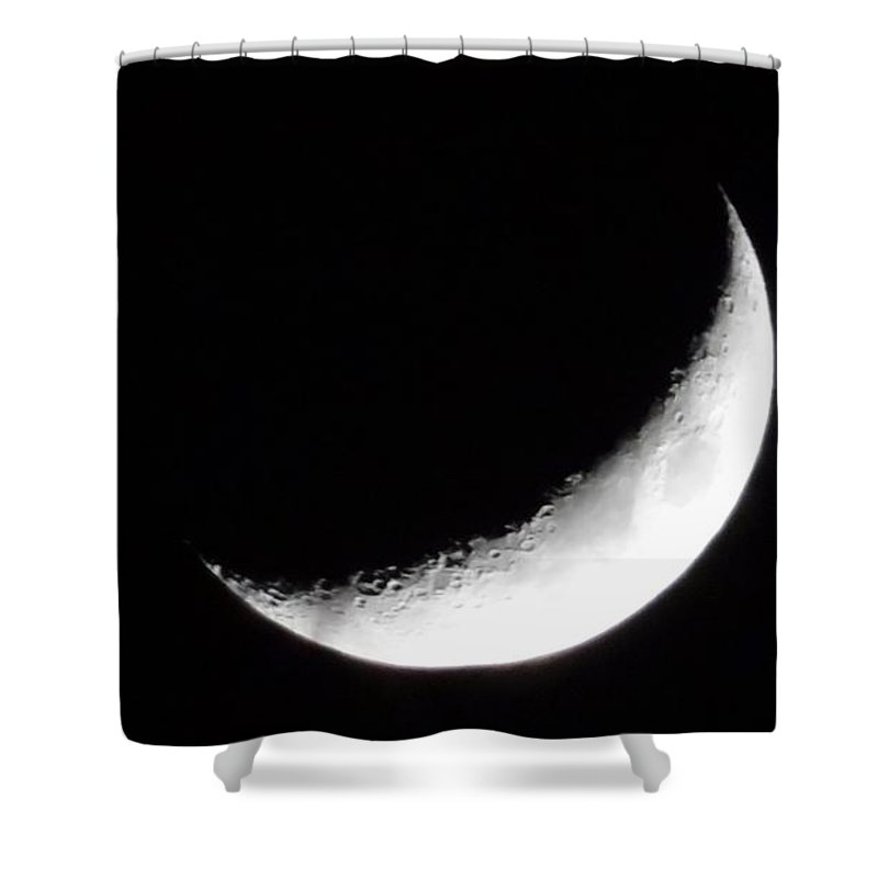 Moon Shower Curtain featuring the photograph Fascinating Moon by Deb Rassel