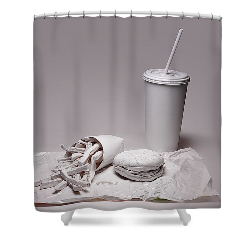 Beverage Photographs Shower Curtains