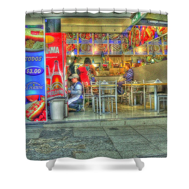 Conveniece Shower Curtain featuring the photograph Fast Food by Francisco Colon