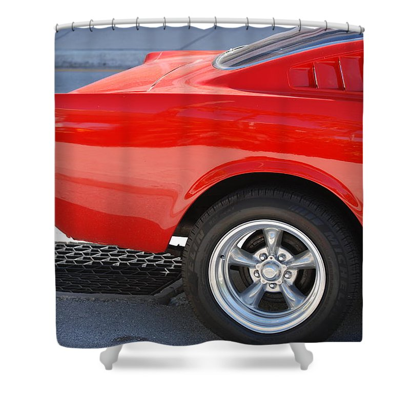 Ford Shower Curtain featuring the photograph Fastback Mustang by Rob Hans