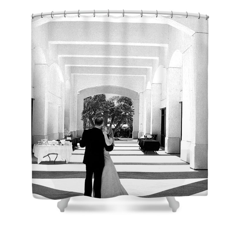 Dance Shower Curtain featuring the photograph Father And Bride by Anthony Jones