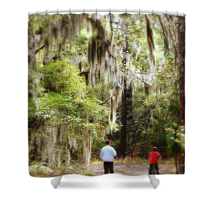 Father And Son Shower Curtain featuring the photograph Father And Son by Patricia L Davidson
