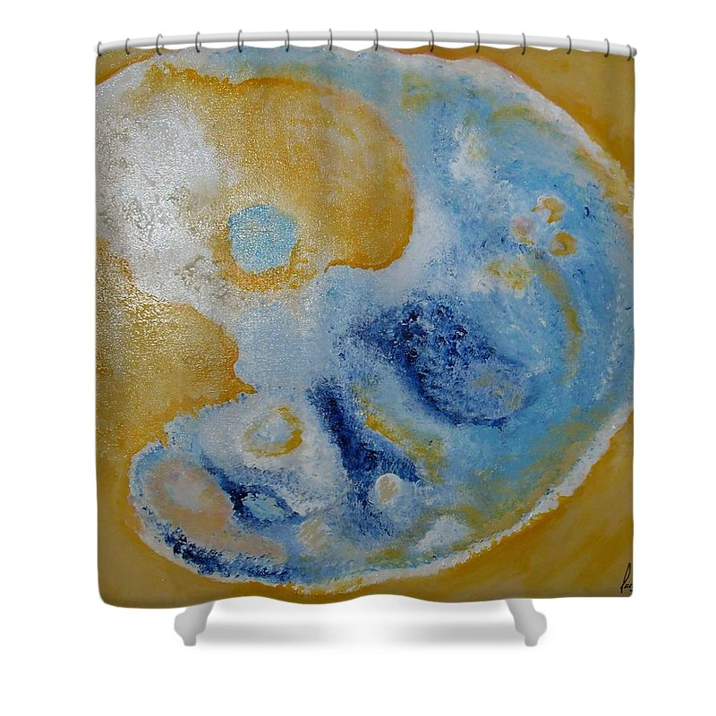 Shower Curtain featuring the painting Favorite Cell by Carol P Kingsley