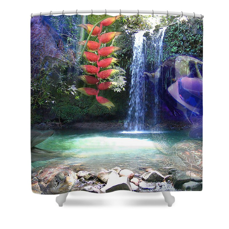 Waterfall Shower Curtain featuring the photograph Favorite Things by Angie Hamlin