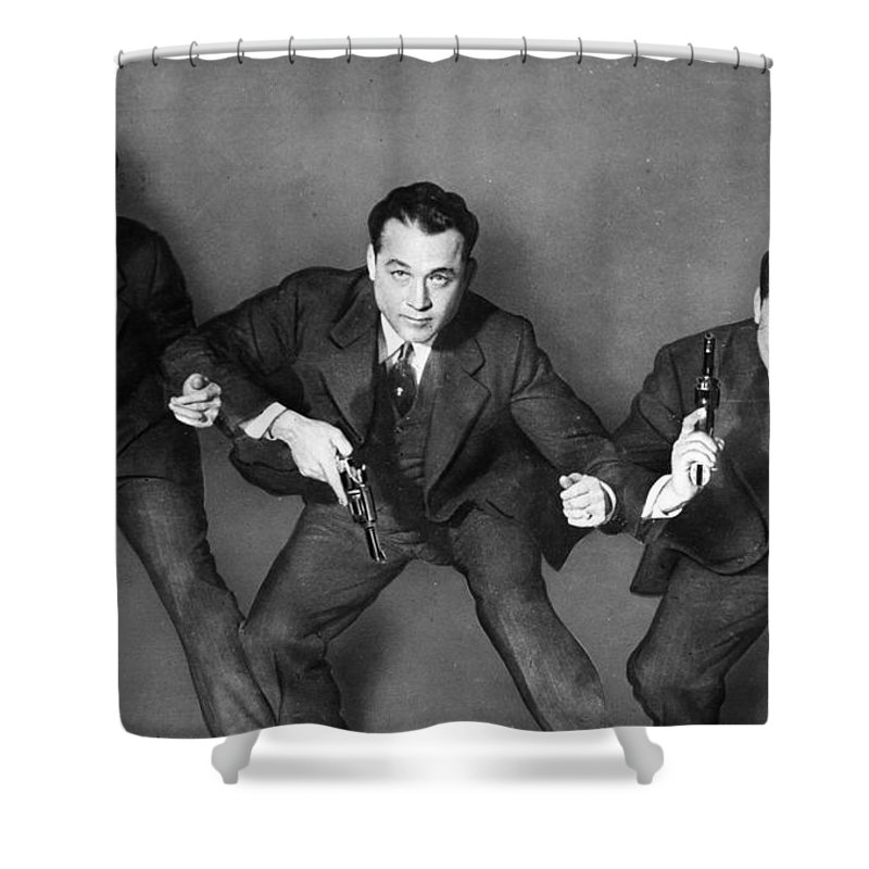 1945 Shower Curtain featuring the photograph Fbi Agent, 1945 by Granger