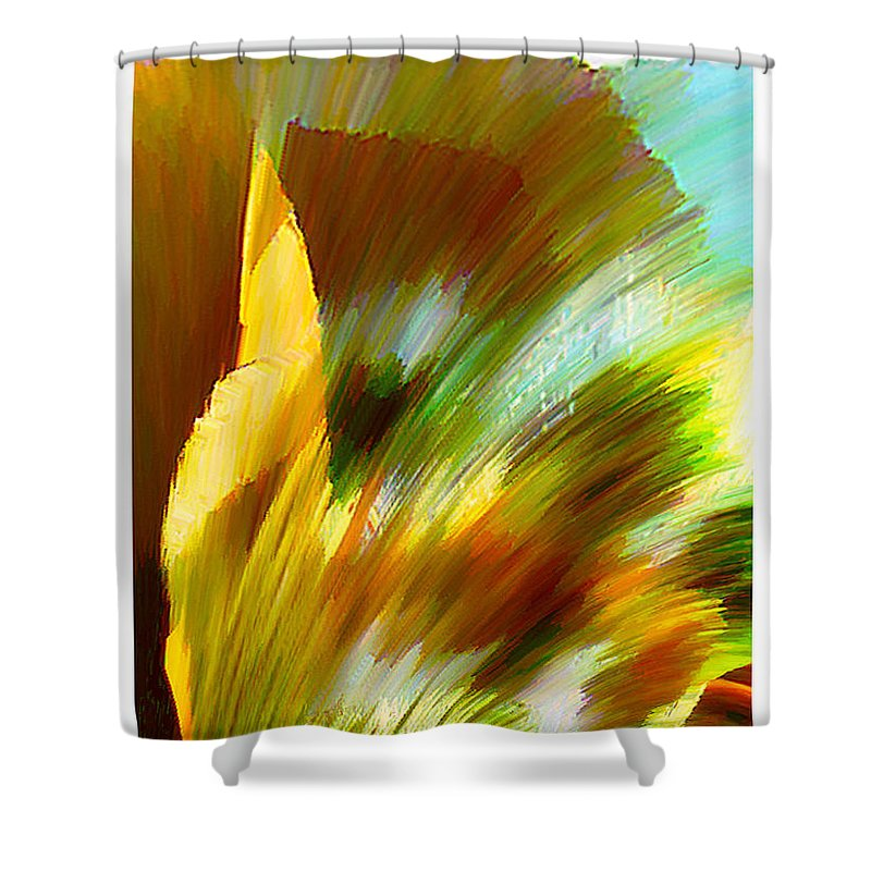 Landscape Digital Art Watercolor Water Color Mixed Media Shower Curtain featuring the digital art Feather by Anil Nene