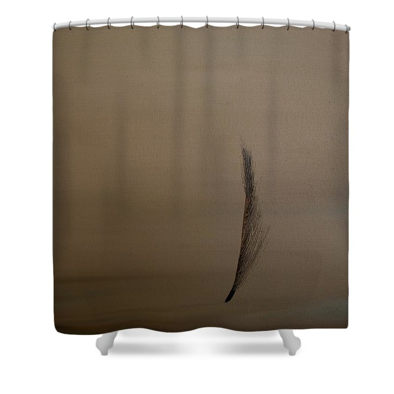 Feather Shower Curtain featuring the painting Feather by Jack Diamond