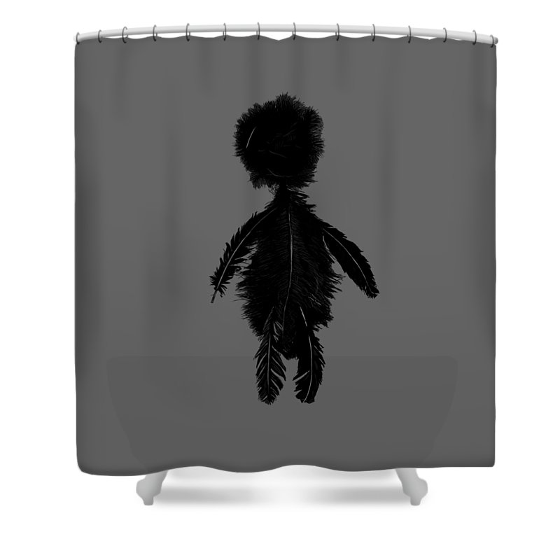 Featherman From Playing The Angel Shower Curtain for Sale by Luc ...