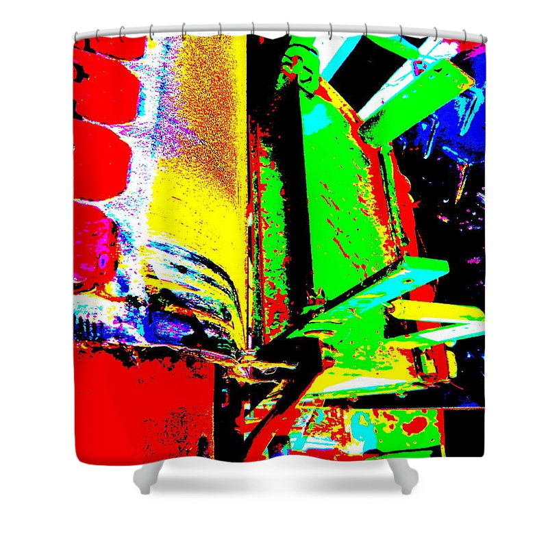 Abstract Shower Curtain featuring the photograph Feb 2016 8 by George Ramos