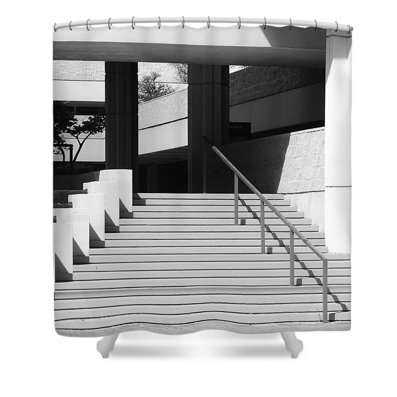 Architecture Shower Curtain featuring the photograph Federal Stairs by Rob Hans