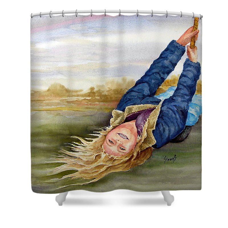 Seing Shower Curtain featuring the painting Feelin The Wind by Sam Sidders