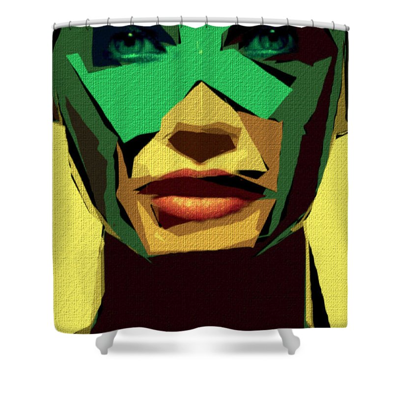 Female Shower Curtain featuring the digital art Female Expressions Xv by Rafael Salazar
