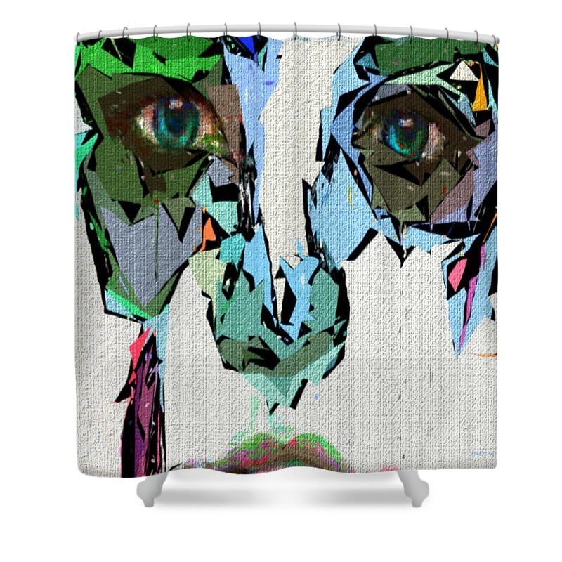 Female Shower Curtain featuring the digital art Female Expressions Xvii by Rafael Salazar