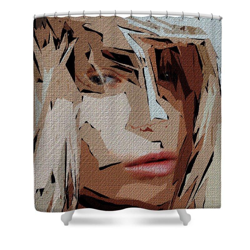 Female Shower Curtain featuring the digital art Female Expressions Xx by Rafael Salazar
