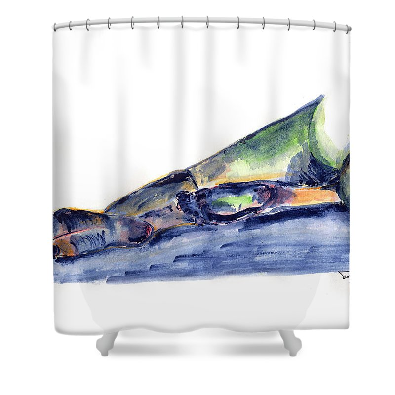 Female Shower Curtain featuring the painting Female Nude Studies 0516 by Robert Salter