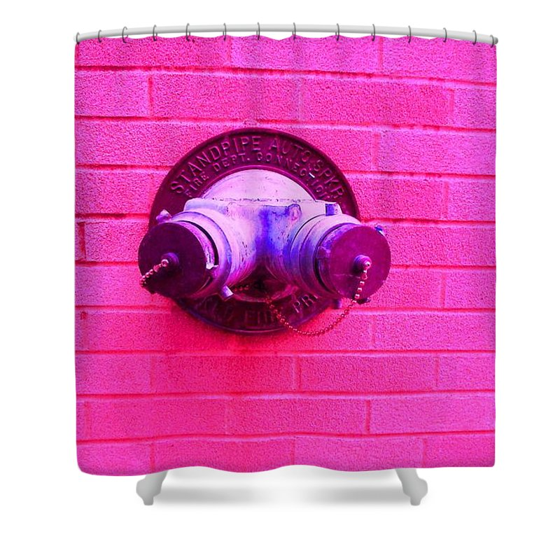Photograph Shower Curtain featuring the photograph Female Pipe by Thomas Valentine