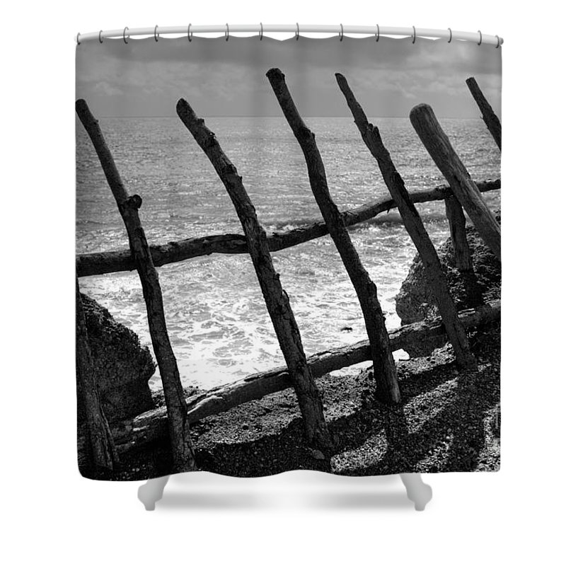 Atlantic Ocean Shower Curtain featuring the photograph Fence by Gaspar Avila