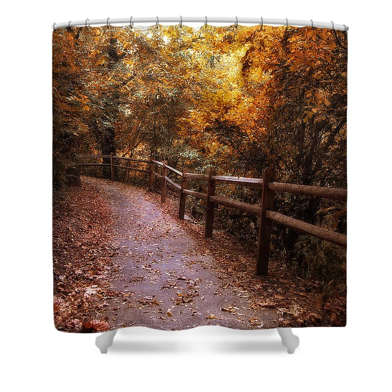 Seasonal Shower Curtain featuring the photograph Fenceline by Jessica Jenney