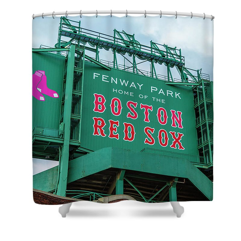 Fenway Park Shower Curtain Featuring The Photograph
