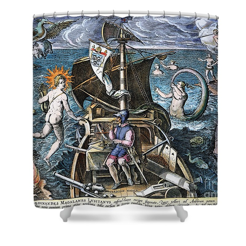1520 Shower Curtain featuring the photograph Ferdinand Magellan by Granger