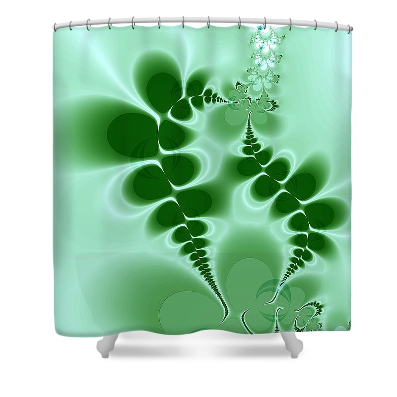 Digital Art Shower Curtain featuring the digital art Ferns by Amanda Moore