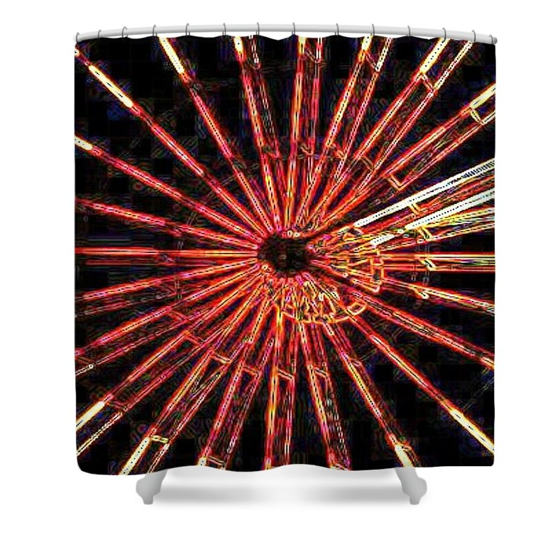 Ferris Wheel Shower Curtain featuring the digital art Ferris Wheel by Tim Allen