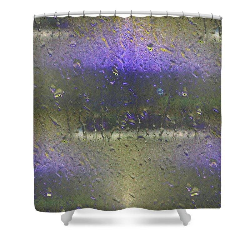 Seattle Shower Curtain featuring the photograph Ferry In The Fog by Tim Allen