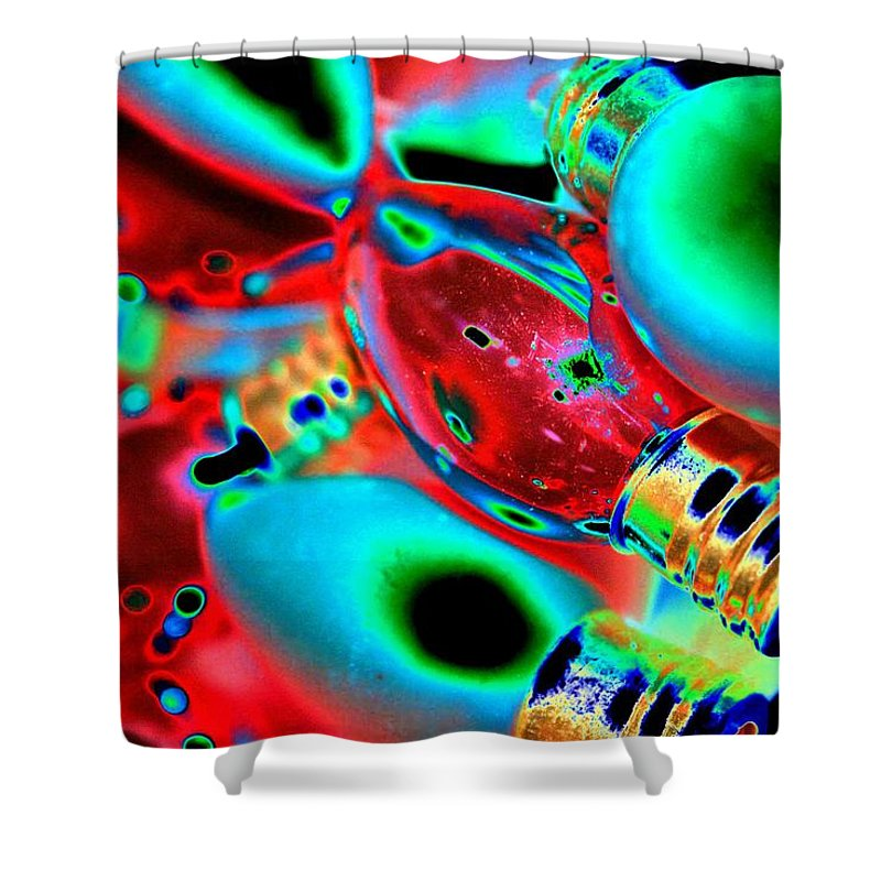 Christmas Shower Curtain featuring the photograph Festive Lights Of Christmas by Tiffany Vest