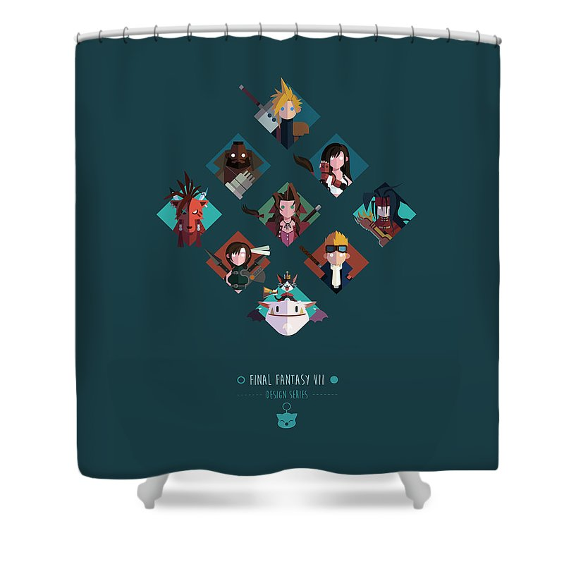 Final Fantasy Shower Curtain featuring the digital art FF Design Series by Michael Myers