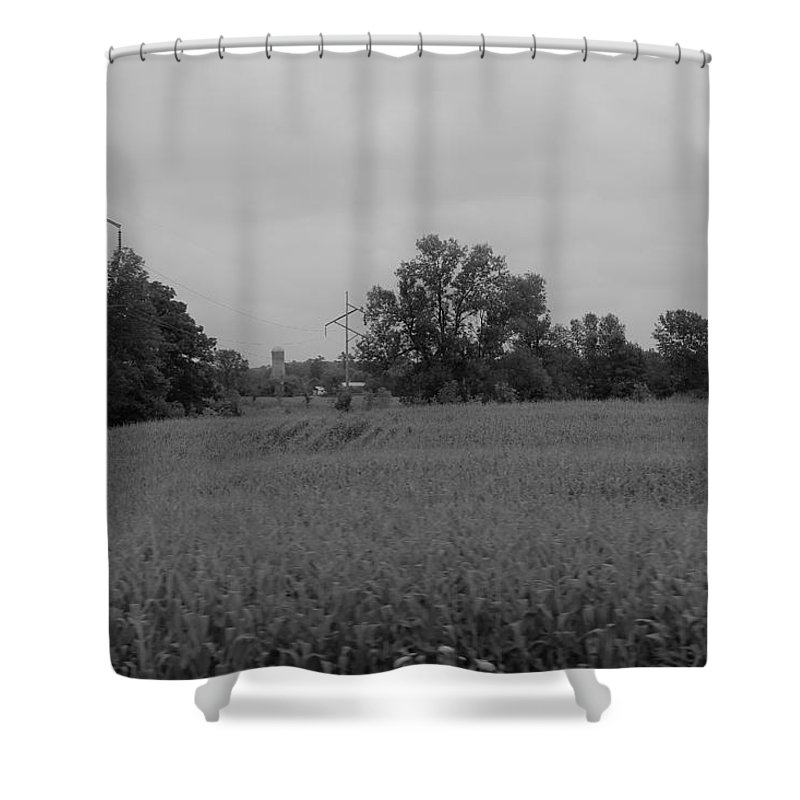 Shower Curtain featuring the photograph Field 1 by John Bichler