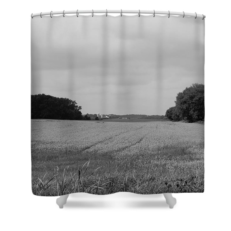 Shower Curtain featuring the photograph Field by John Bichler