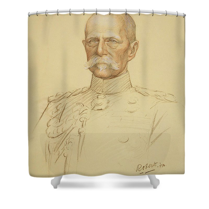 Lady Feodora Gleichen Shower Curtain featuring the painting Field Marshall Earl Roberts by Feodora Gleichen