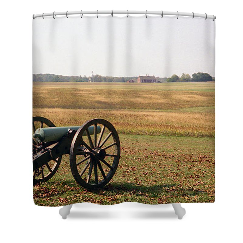 Civil War Shower Curtain featuring the photograph Fields Of Death by Richard Rizzo