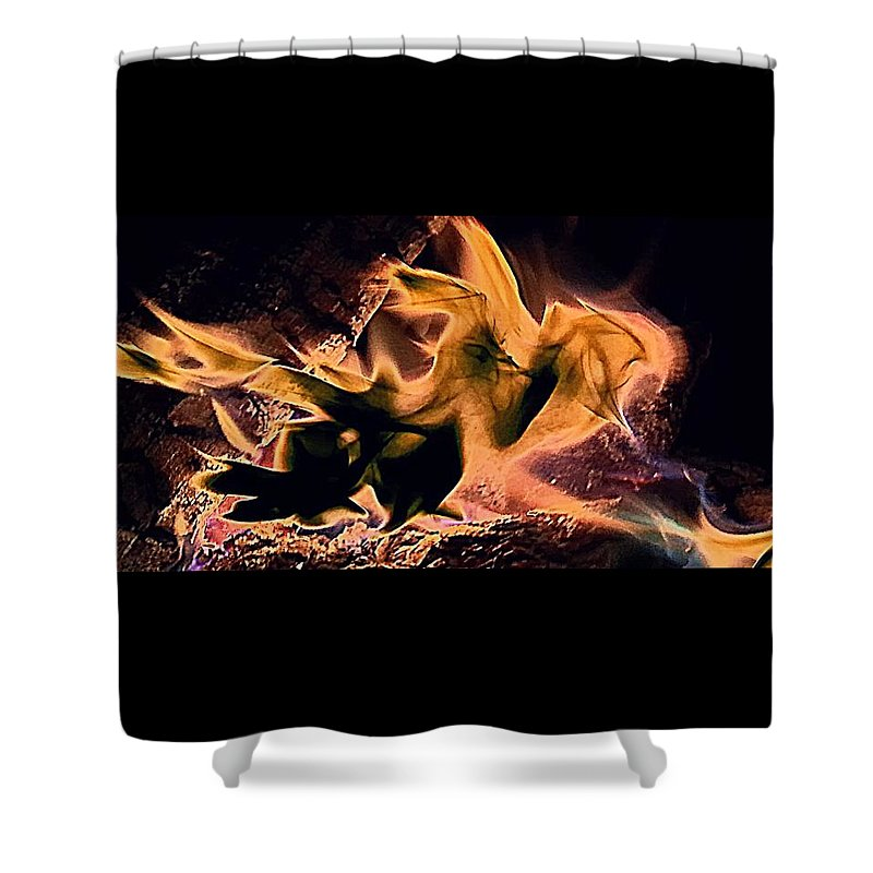 Photography Shower Curtain featuring the photograph Fiera by Lori Morrow