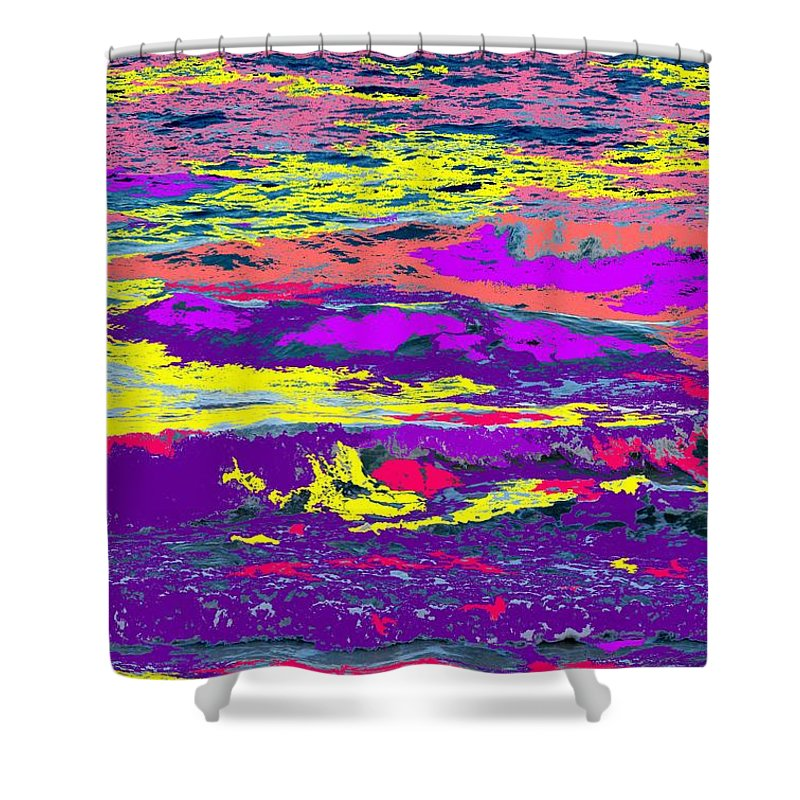 Ocean Shower Curtain featuring the photograph Fiery Passion by Ian MacDonald