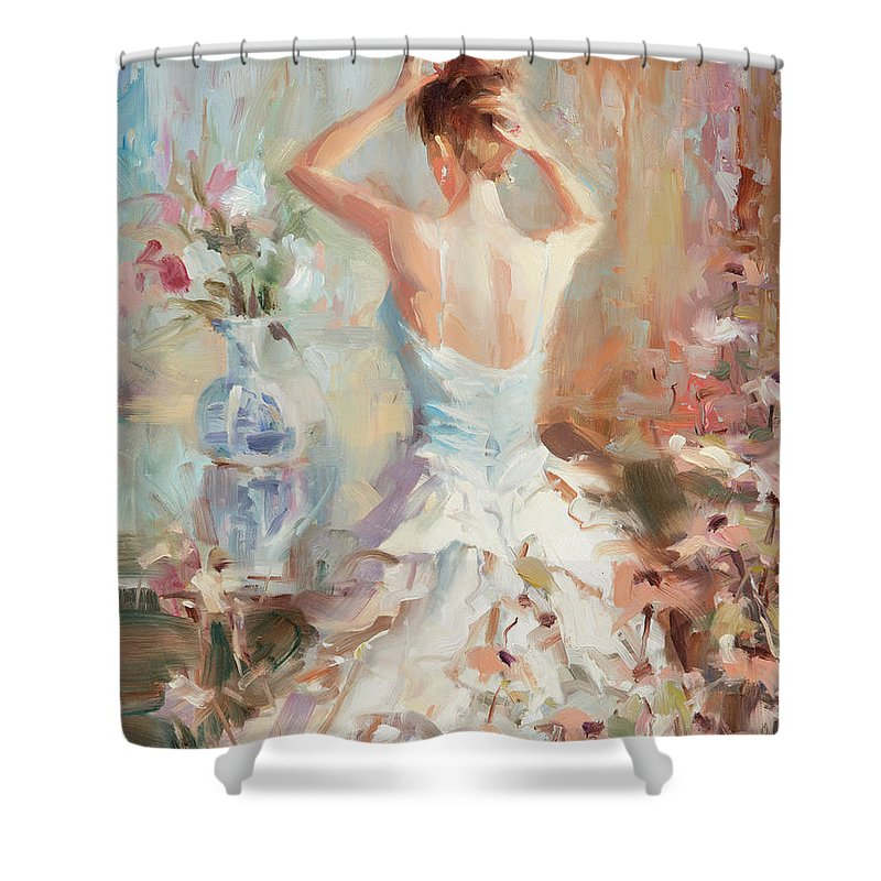 Romance Shower Curtain featuring the painting Figurative II by Steve Henderson